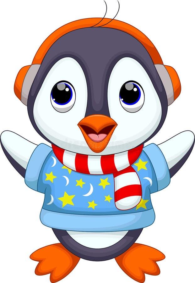 Dessin animé mignon de pingouin illustration libre de droits