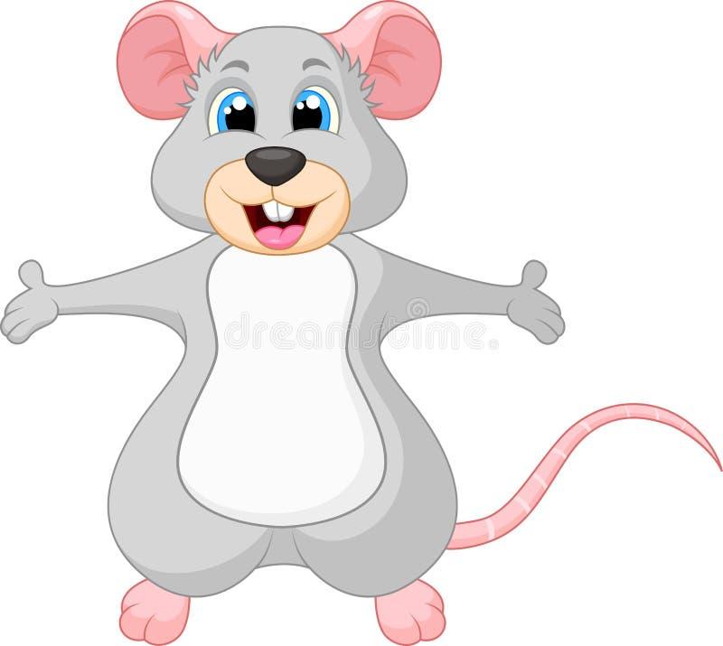 Dessin animé mignon de souris illustration libre de droits