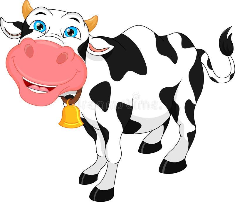 Dessin animé mignon de vache illustration libre de droits