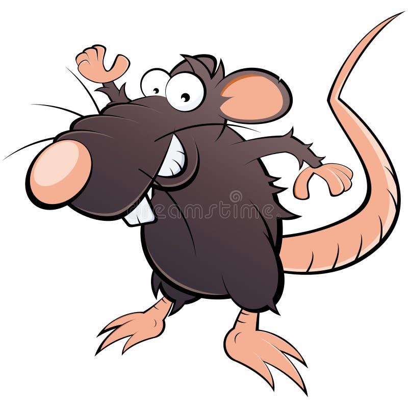 Dessin animé plein d'humour de rat illustration stock