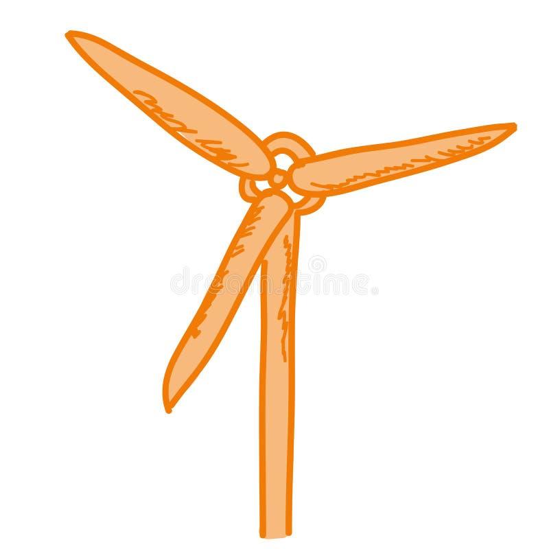 Dessin animé représentant un générateur de vent illustration libre de droits