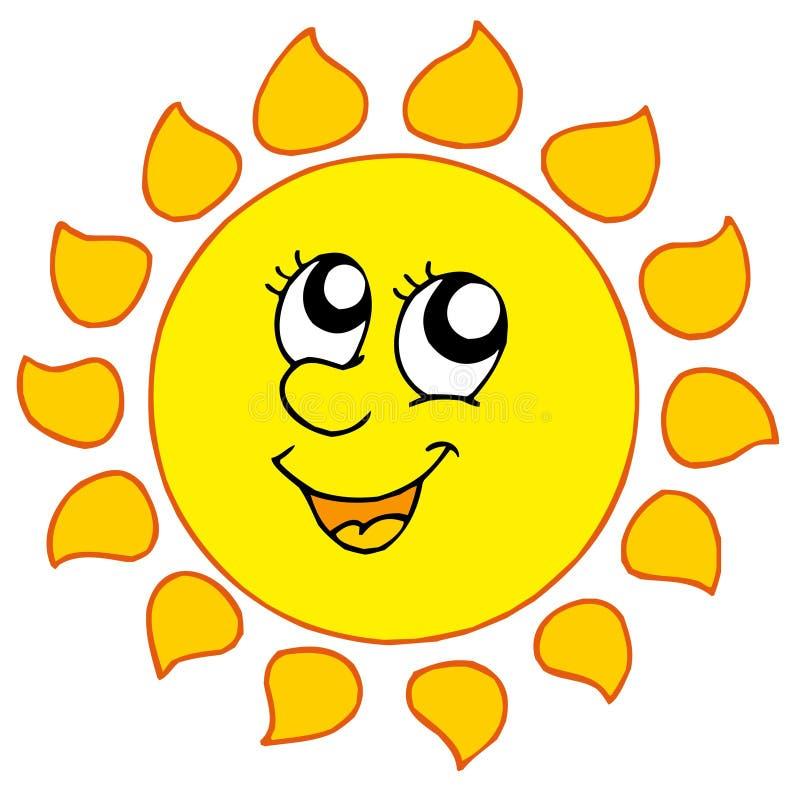 Dessin animé Sun de sourire illustration libre de droits