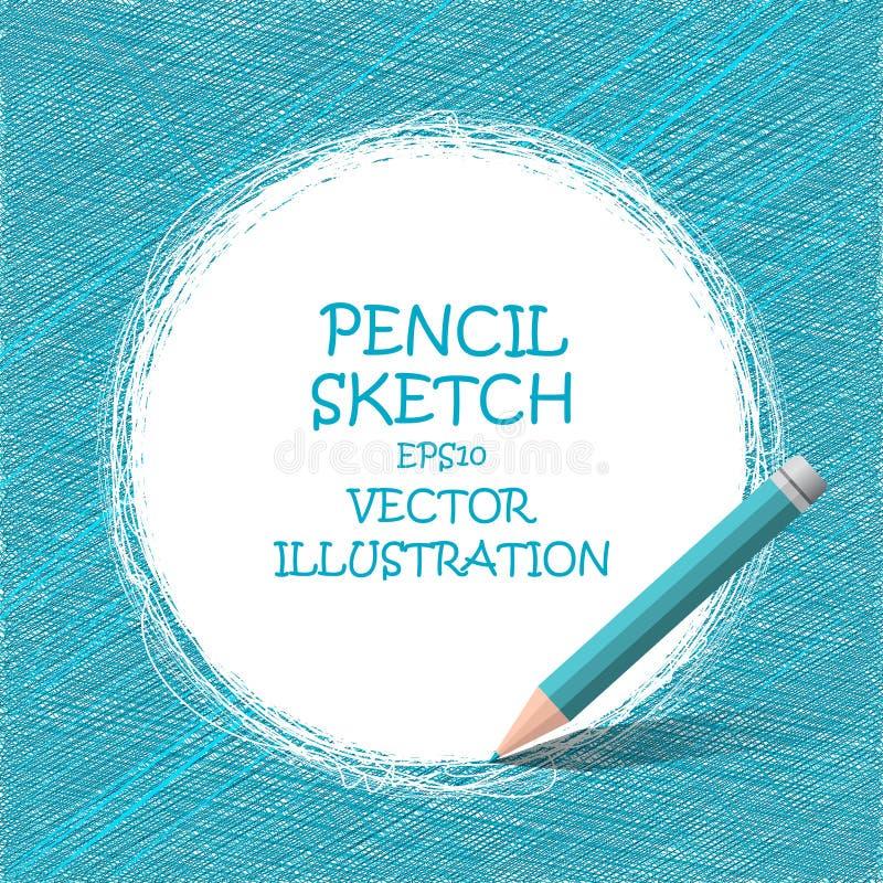Dessin au crayon de croquis Griffonnages de vecteur illustration libre de droits
