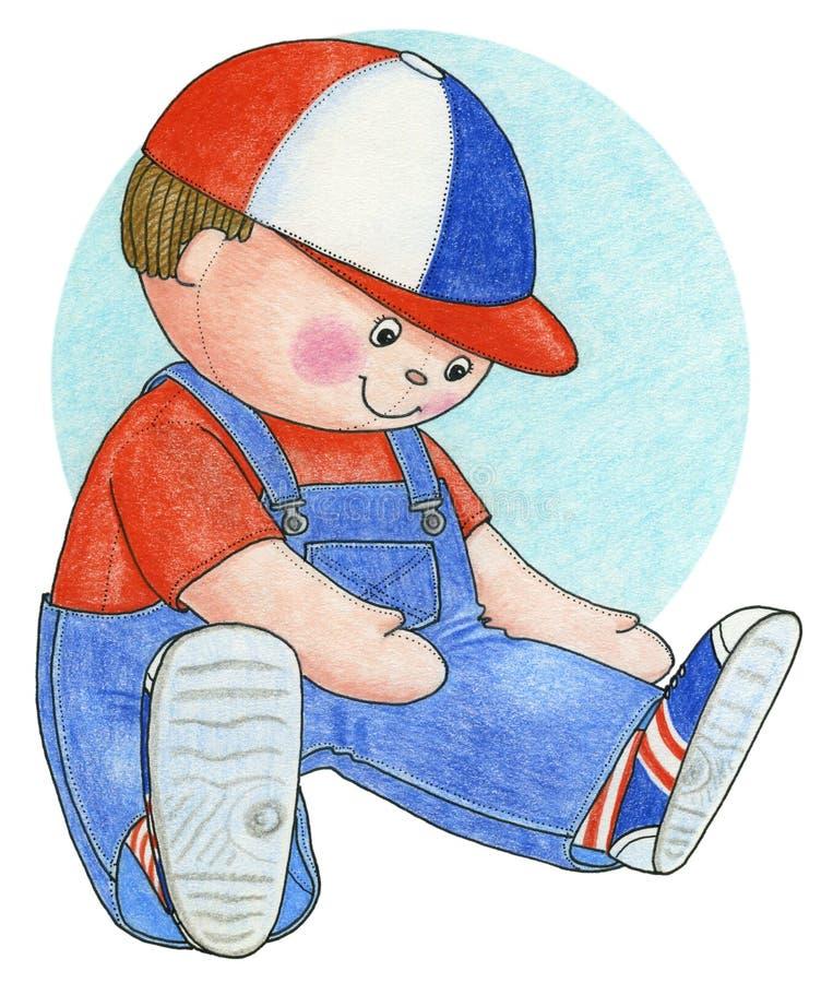 Dessin au crayon de poupée illustration libre de droits