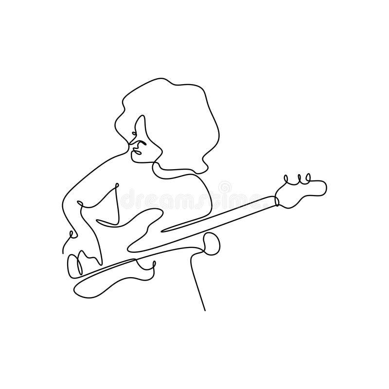 dessin au trait continu d'un instrument de jazz illustration de vecteur