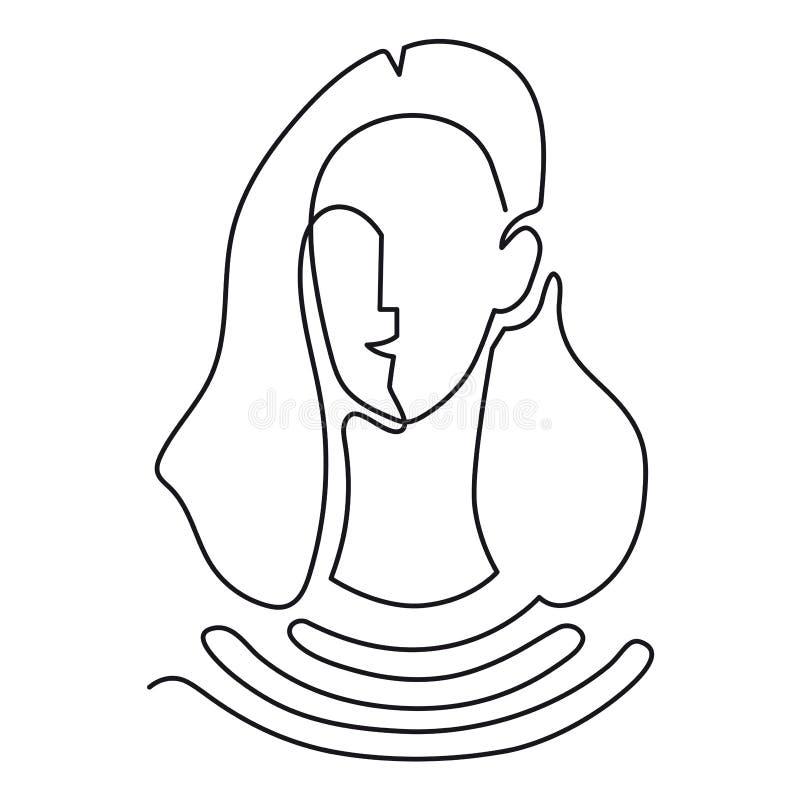 Dessin au trait continu Verticale abstraite d'un femme Illustration de vecteur illustration libre de droits
