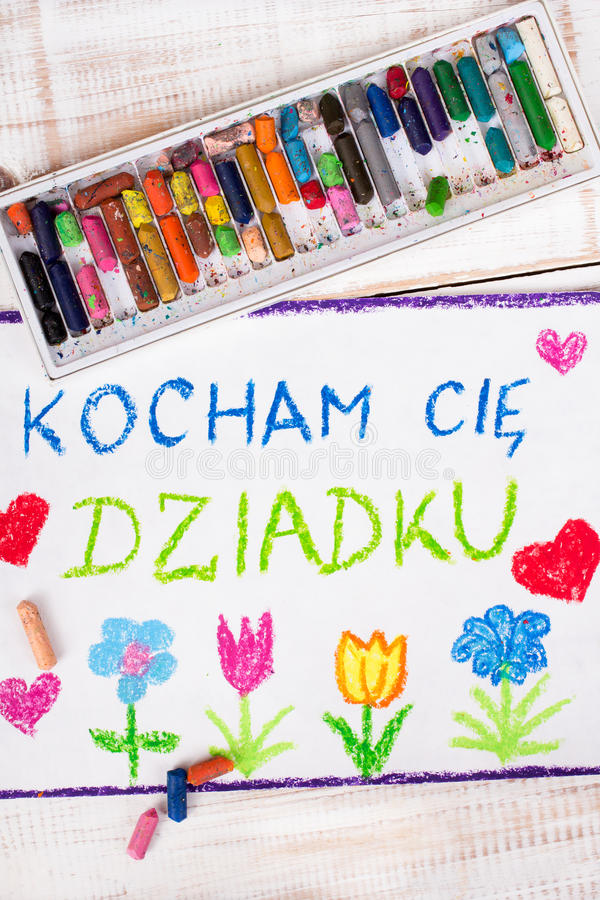 Dessin : Carte première génération polonaise de jour du ` s photo stock