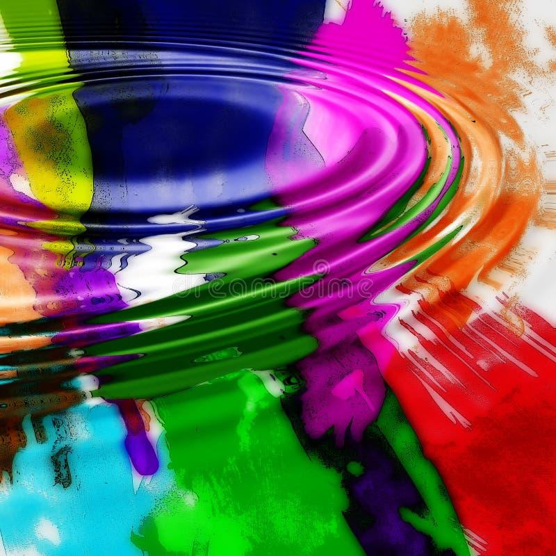 Dessin coloré d'ondulation images stock