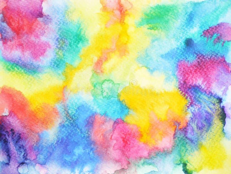 Dessin Coloré De Main De Fond De Peinture D Aquarelle D Arc