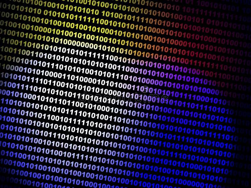 Dessin dépeignant le flux de données binaires illustration stock