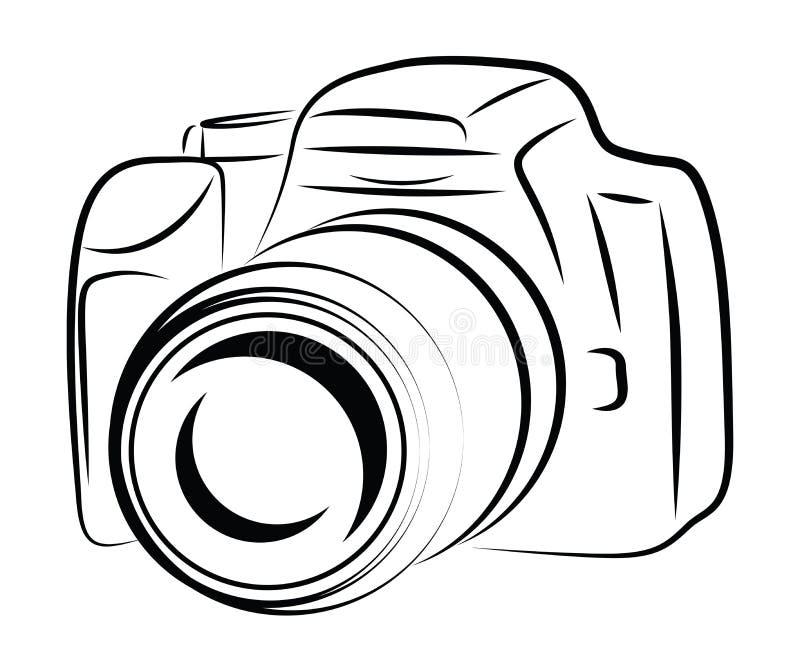 dessin d 39 appareil photo de d coupe illustration stock illustration du technologie image 31488954. Black Bedroom Furniture Sets. Home Design Ideas