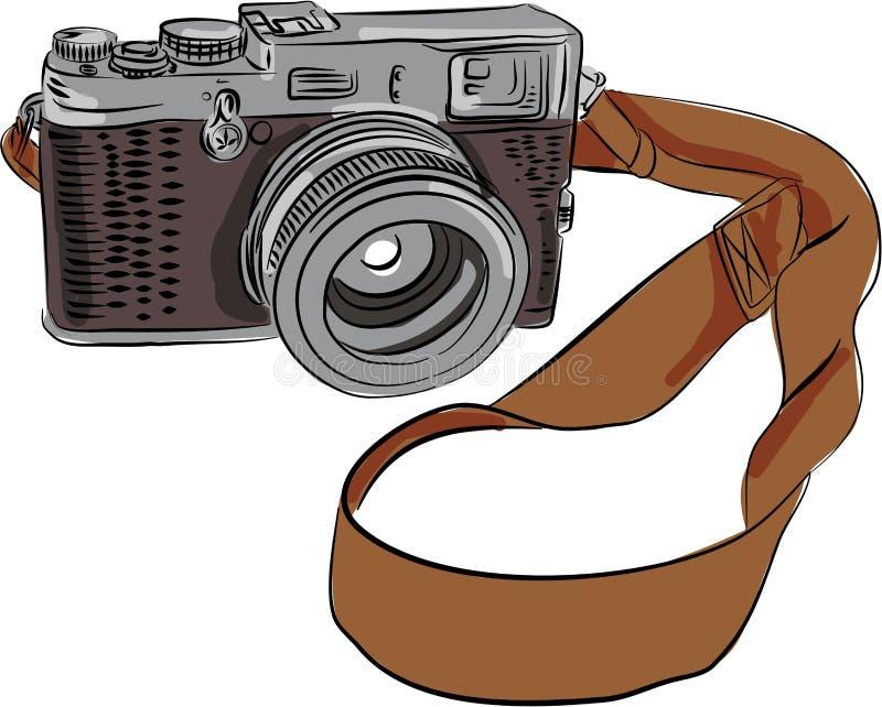 dessin d 39 appareil photo de vintage d 39 isolement illustration de vecteur illustration du fond. Black Bedroom Furniture Sets. Home Design Ideas