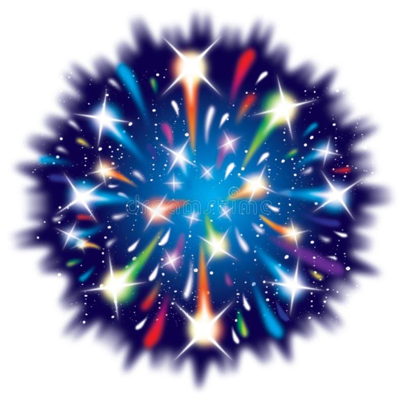 Dessin d'explosion de feu d'artifice de célébration illustration stock