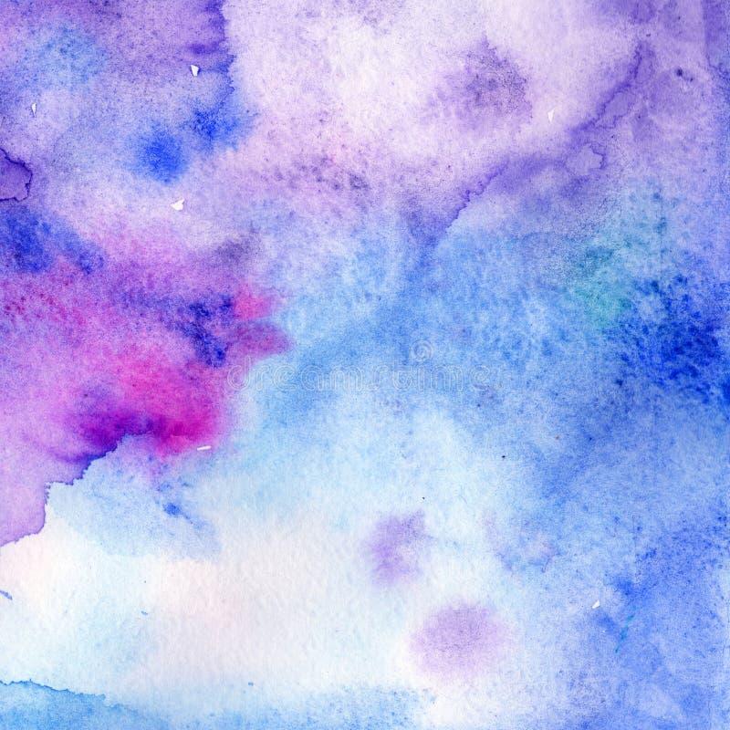 Dessin d'isolement par formes abstraites d'éclaboussure de papier d'aquarelle Aquarelle d'illustration pour le fond illustration de vecteur