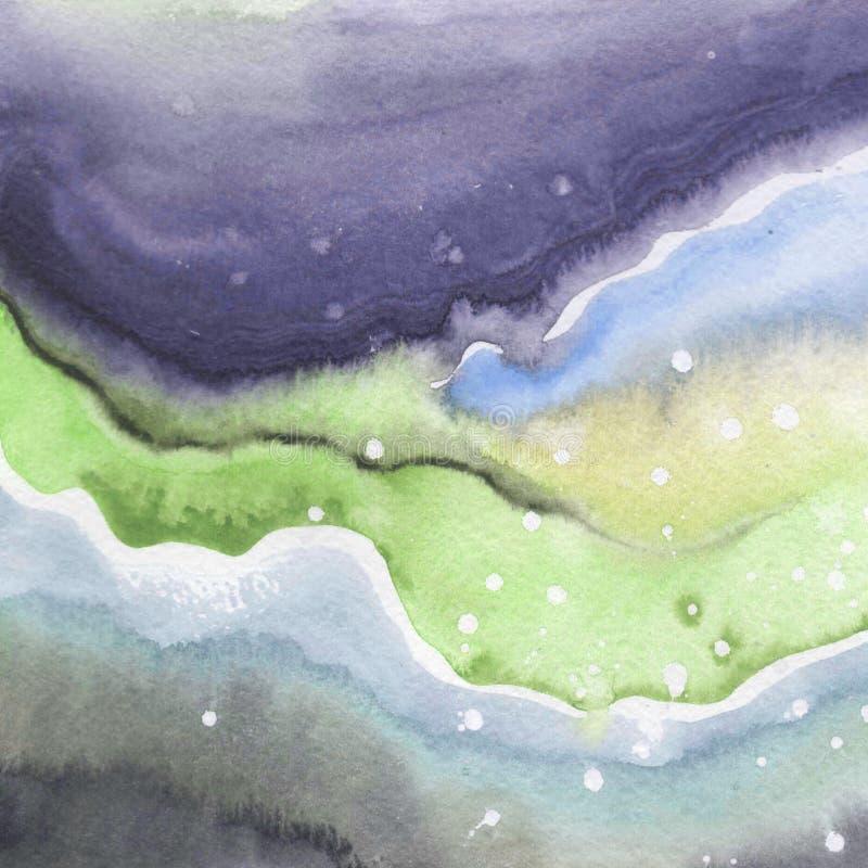 Dessin d'isolement par formes abstraites d'éclaboussure de papier d'aquarelle illustration de vecteur