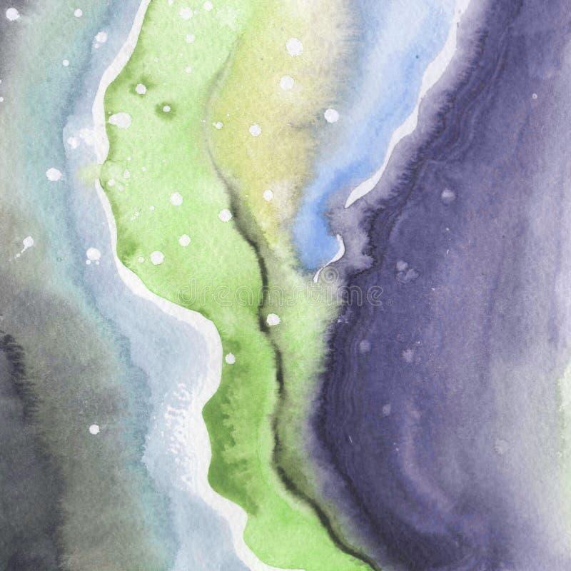 Dessin d'isolement par formes abstraites d'éclaboussure de papier d'aquarelle illustration stock