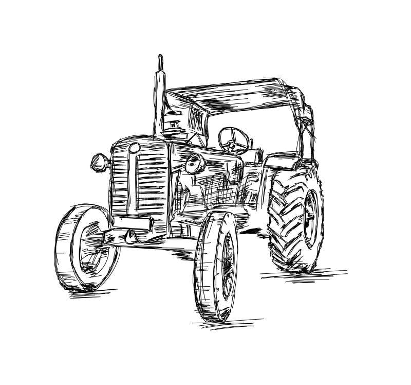Dessin d'un tracteur pour l'agriculture - Illustration d'un vecteur illustration de vecteur