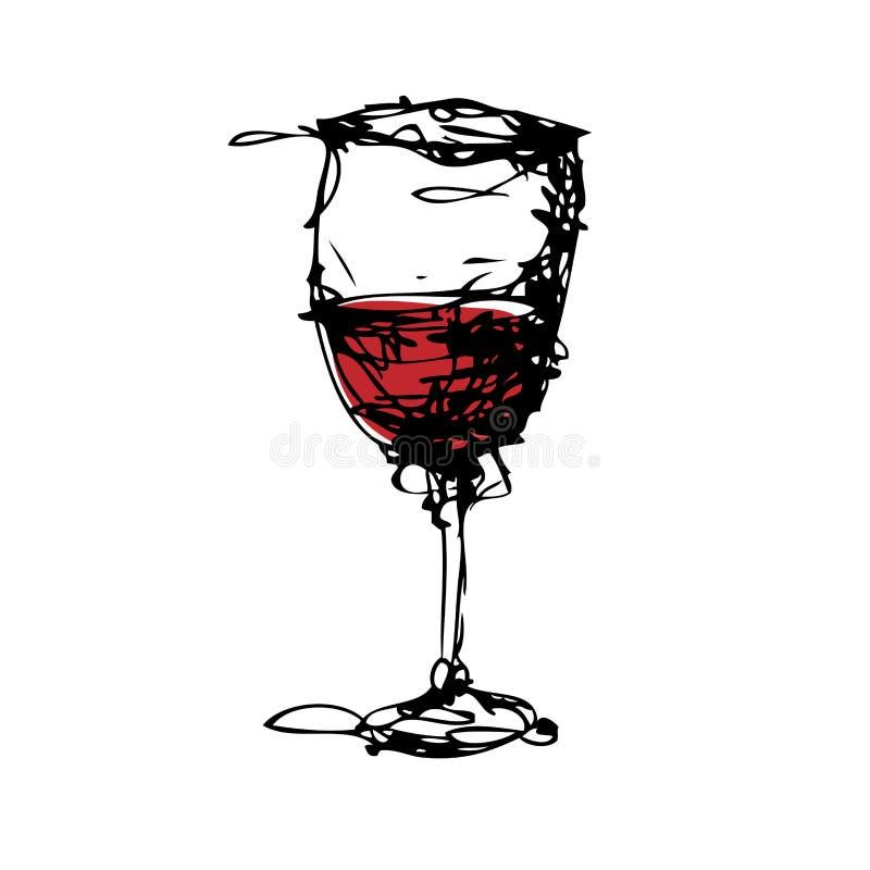 Dessin d 39 un verre de vecteur de vin illustration de vecteur illustration du glace retrait - Verre de vin dessin ...
