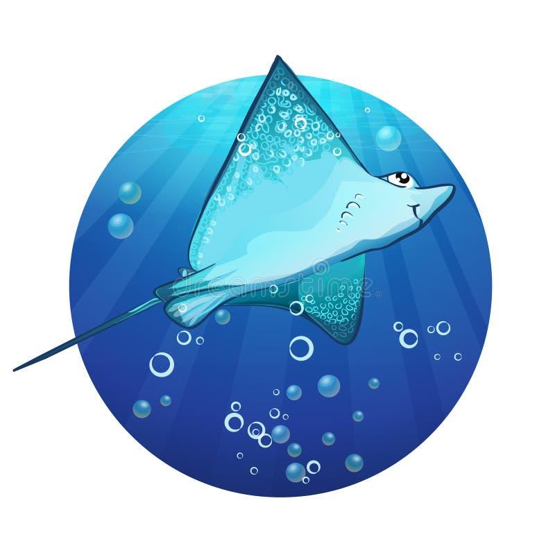 Dessin de bande dessinée d'une rampe de poissons illustration stock