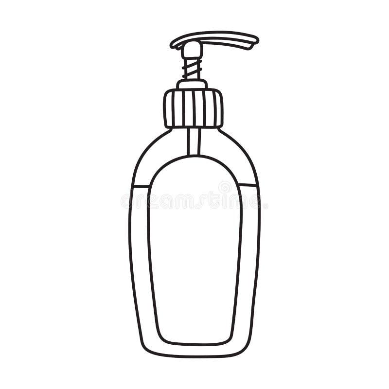 dessin de bouteille de distributeur de gel de douche de savon liquide illustration de vecteur. Black Bedroom Furniture Sets. Home Design Ideas
