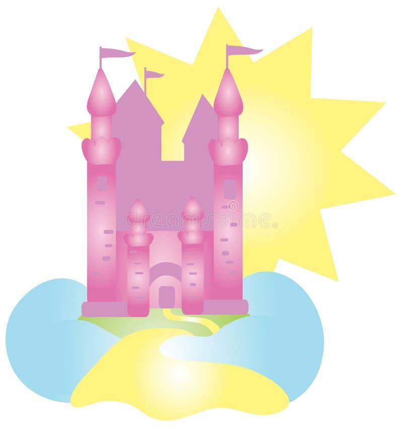 Dessin de château illustration libre de droits