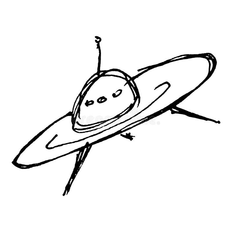 Dessin de croquis d 39 un vaisseau spatial illustration de vecteur illustration du spaceship - Dessin vaisseau star wars ...