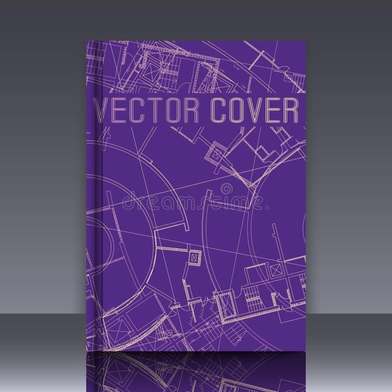 Dessin de détail architectural abstrait sur la surface plane illustration stock