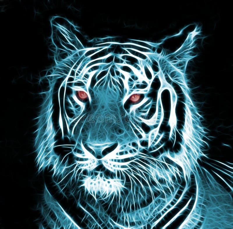 Dessin de Digital d'un tigre illustration stock