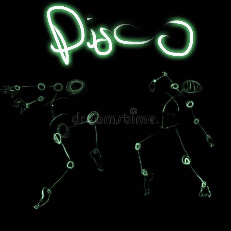 Dessin de disco, lampe au néon photos libres de droits