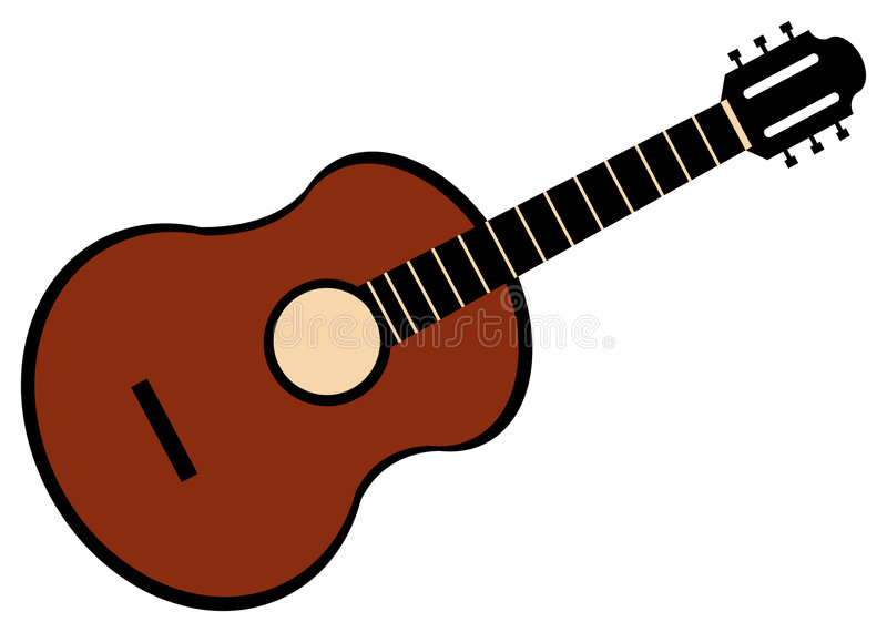 Dessin de guitare illustration libre de droits