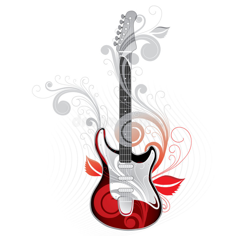 Dessin de guitare illustration stock