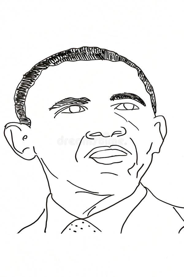 Dessin de main des politiciens américains photos libres de droits
