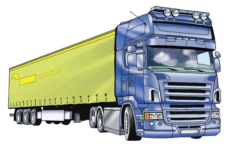 Dessin de remorque de camion de voiture illustration stock - Dessin de camion semi remorque ...