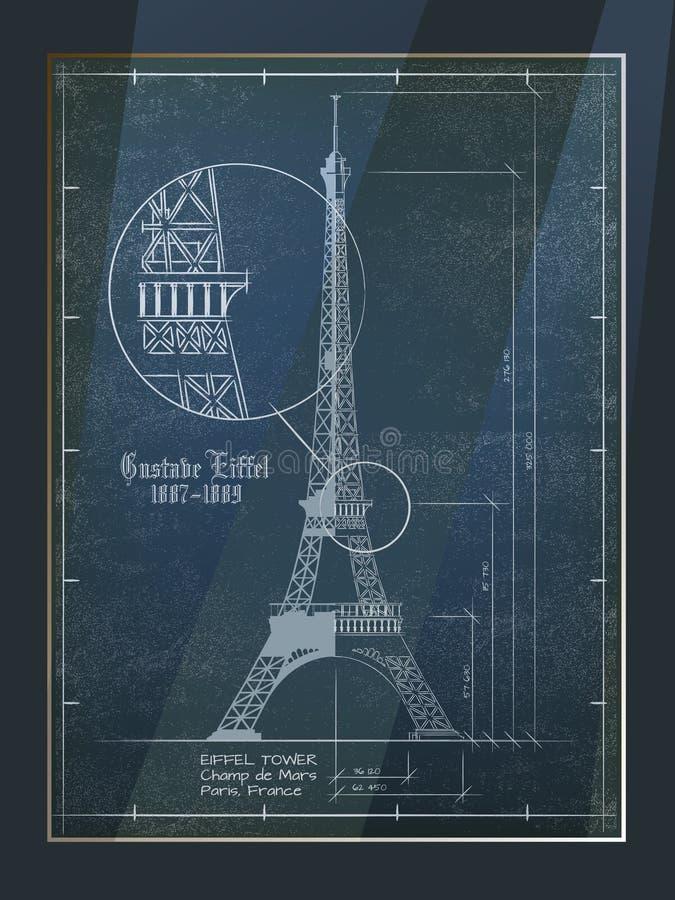 Dessin de Tour Eiffel illustration libre de droits