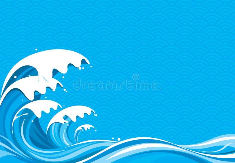 Dessin de vague déferlante