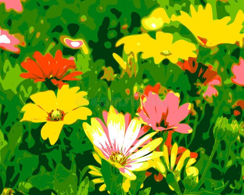 Dessin de vecteur des fleurs illustration libre de droits