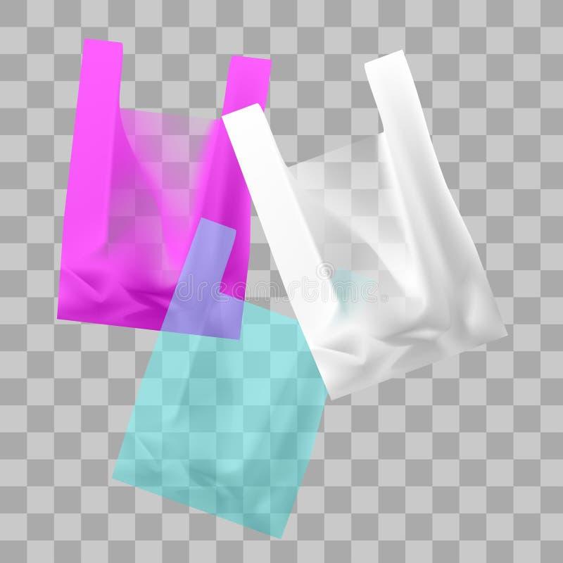 Dessin de vecteur des sachets en plastique colorés illustration de vecteur