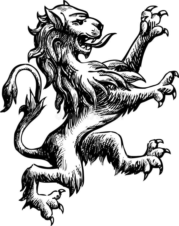 Lion héraldique illustration libre de droits