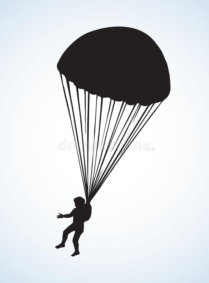 Dessin de vecteur de parachutiste illustration stock