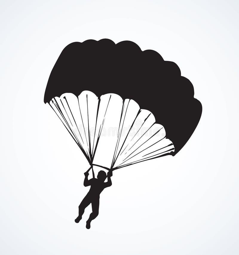Dessin de vecteur de parachutiste illustration de vecteur