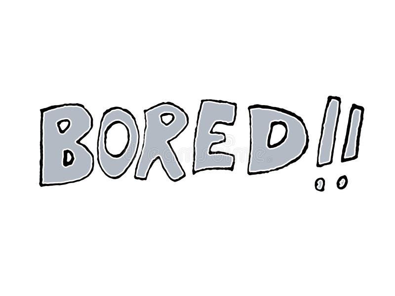 Dessin de Word ennuyé par style comique illustration de vecteur
