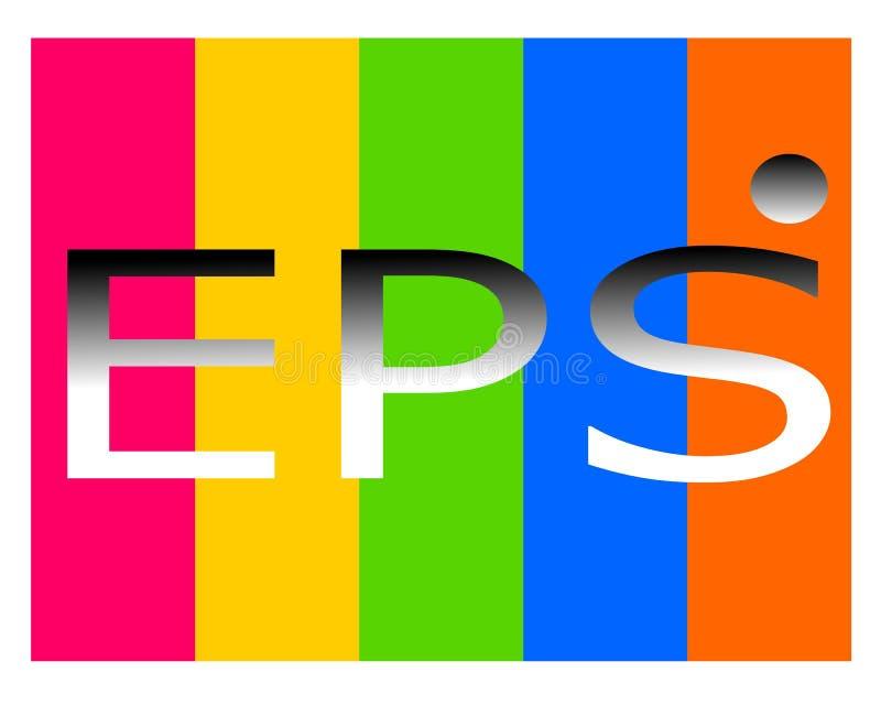 Dessin du logo de dossier d'ENV illustration de vecteur