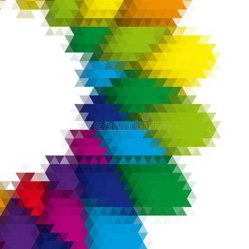 Dessin géométrique, mosaïque d'un kaléidoscope de vecteur, fond abstrait de mosaïque, fond futuriste coloré, géométrique illustration libre de droits