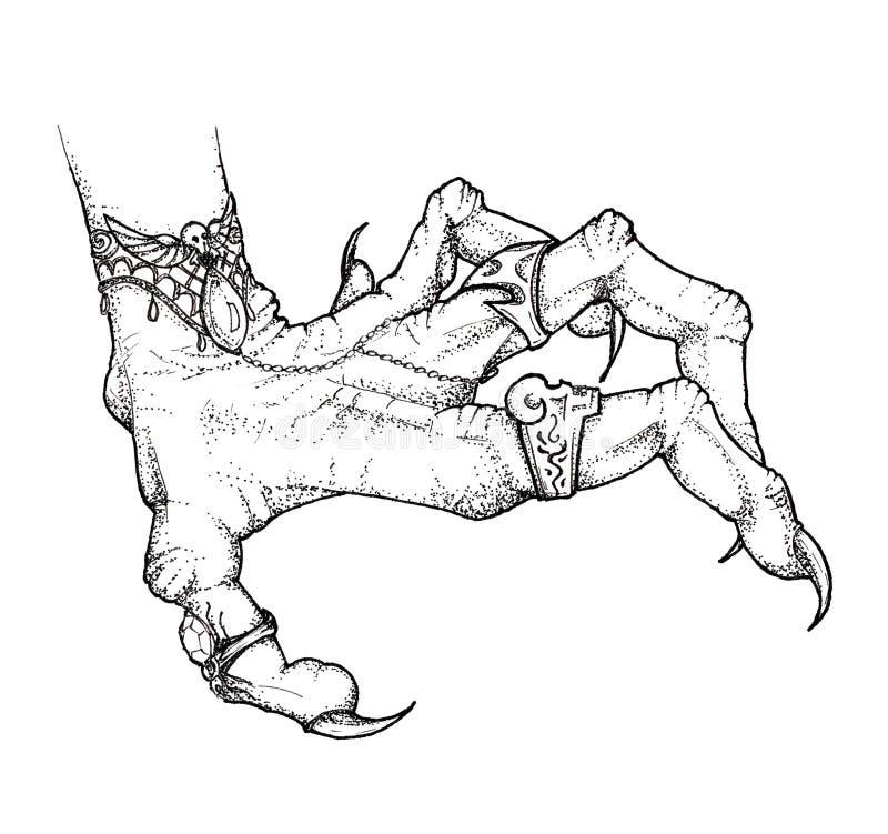 Dessin Graphique Halloween Main Du S De Sorciere Croquis Illustration Stock Illustration Du Croquis Dessin 127602564