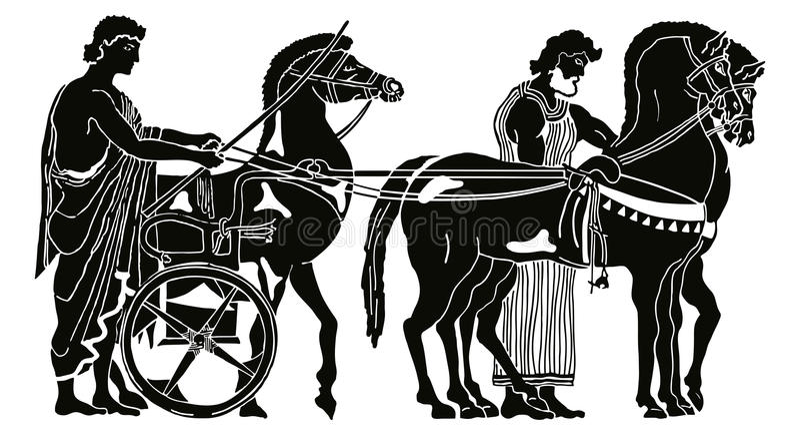 Dessin grec de vecteur illustration de vecteur ...