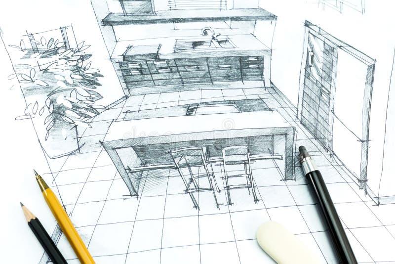 Dessin intérieur de main illustration stock