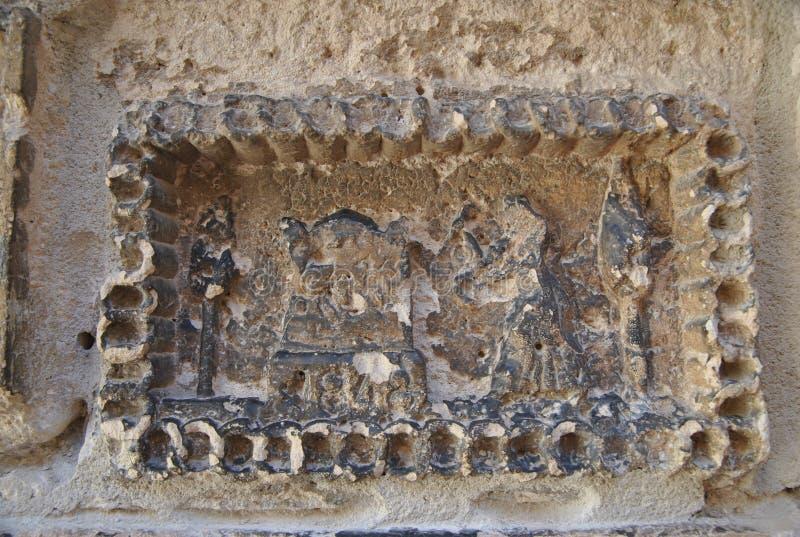 Dessin médiéval sur le mur de SI château photos libres de droits