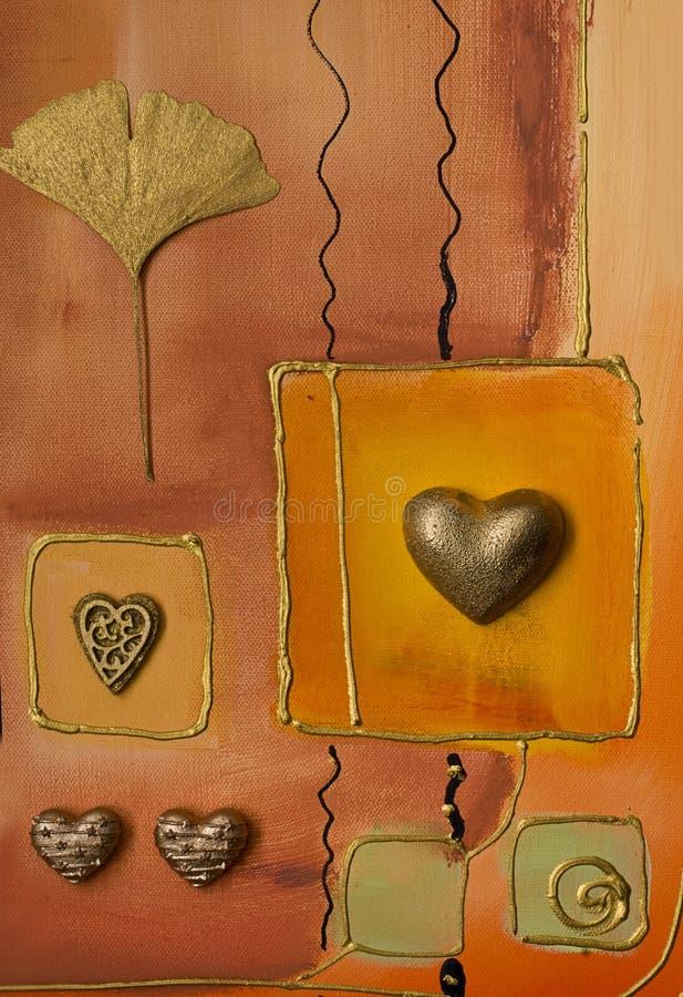 Dessin-modèle avec le coeur illustration libre de droits