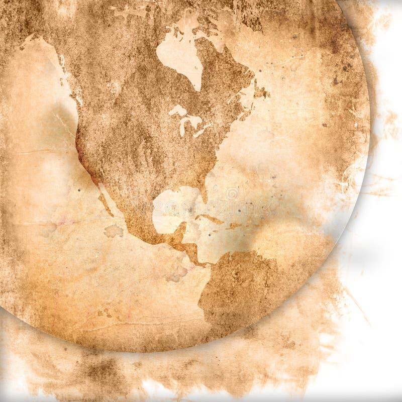 Dessin-modèle de carte-cru de l'Amérique illustration de vecteur