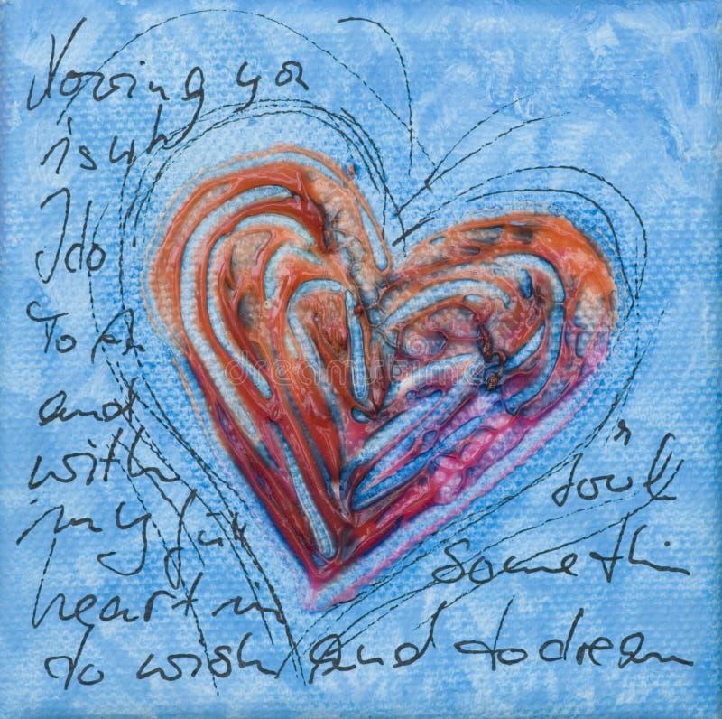 Dessin-modèle de coeur illustration libre de droits